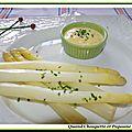 Asperges blanches a la mayonnaise maison