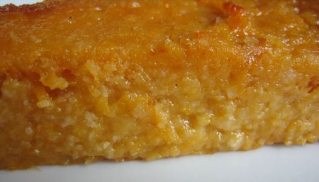 Gateau patate douce et orange