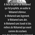 A force de parler de mohamed...