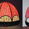 Abat-jour forme dôme en papier japonais diamètre