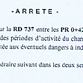 Interdiction temporaire de la rd 737