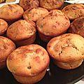 Muffins poires, cannelle, noix et miel - saveurs d'automnes