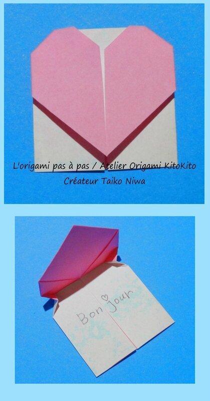 Bo te de coeur 1 l 39 origami pas pas atelier origami kitokito - Origami boite coeur ...
