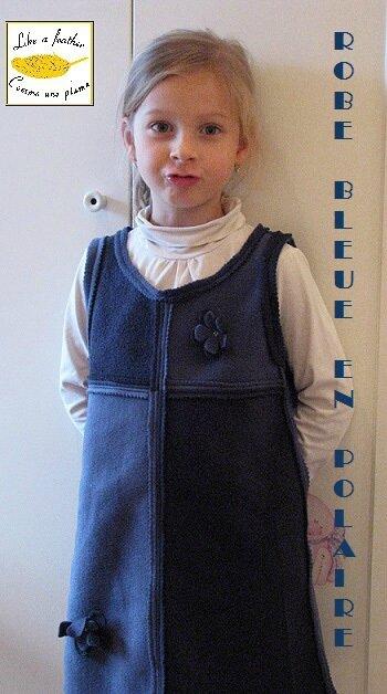 Robe bleu en polaire-FR