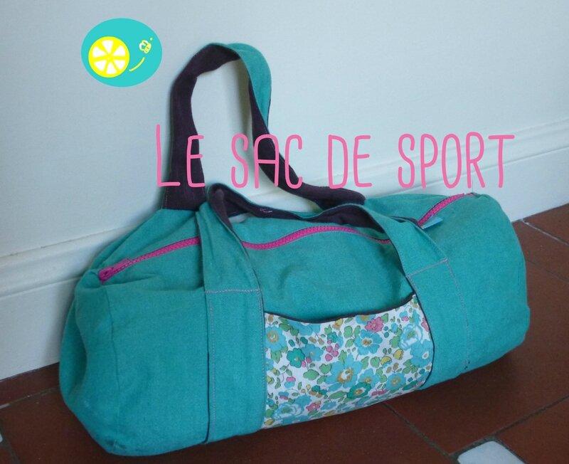 Le sac de sport lemonbee - Tuto sac de sport ...