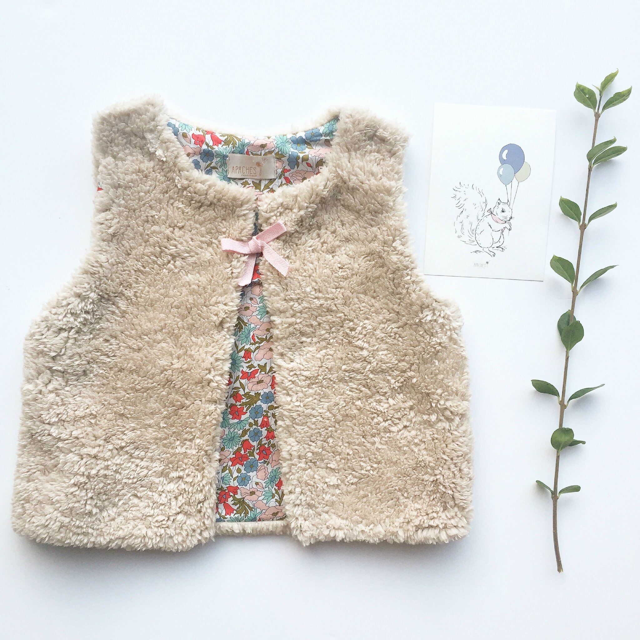 Gilet Sakari - Liberty poppy & daisy blush