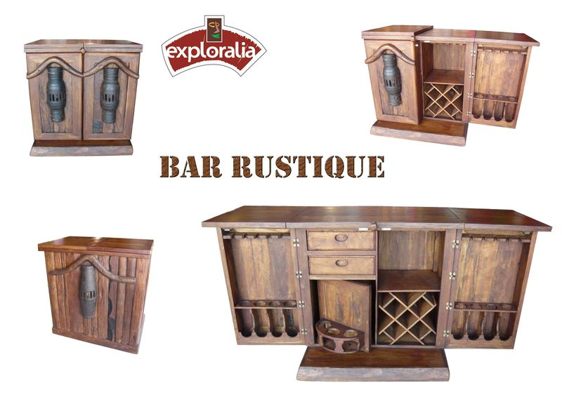 bar teck rustique exploralia challans. Black Bedroom Furniture Sets. Home Design Ideas
