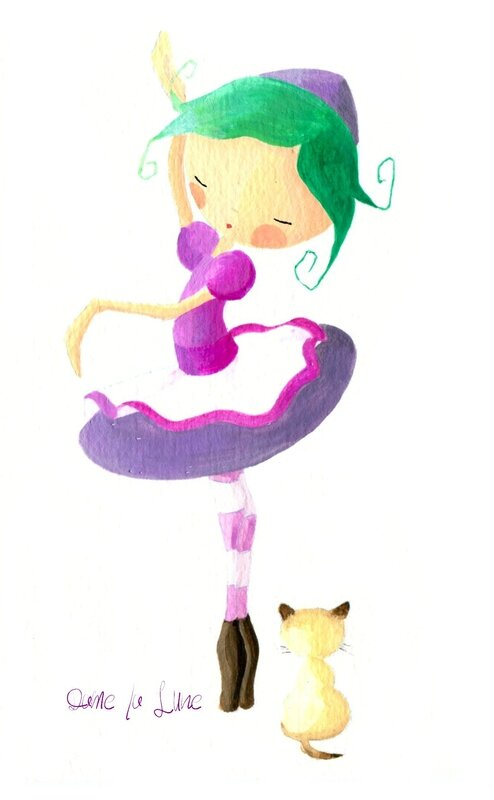 pas de danse_ illustration_Dame_la_lune_chat_ danseuse