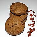 Cookies choco aux baies de goji ( recette veggie )
