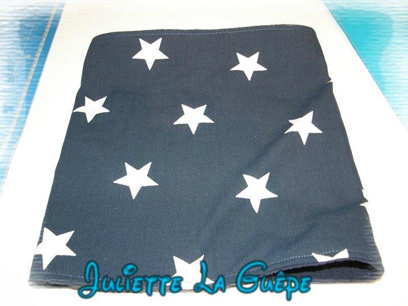 snood marine étoiles blanches3