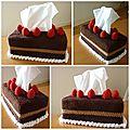 Comme une envie de pâtisserie...recettes de la boîte à mouchoirs gâteau au chocolat et minis muffins aux schoko bons