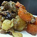 Ragoût d'agneau aux saveurs marocaines