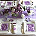 TABLE LILAS DU JARDIN