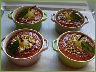 cocotte de poire, crème d'amandes et pistaches20