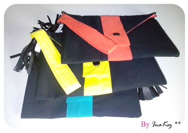 pochette color block