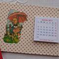 Calendrier Petite fille au parapluie