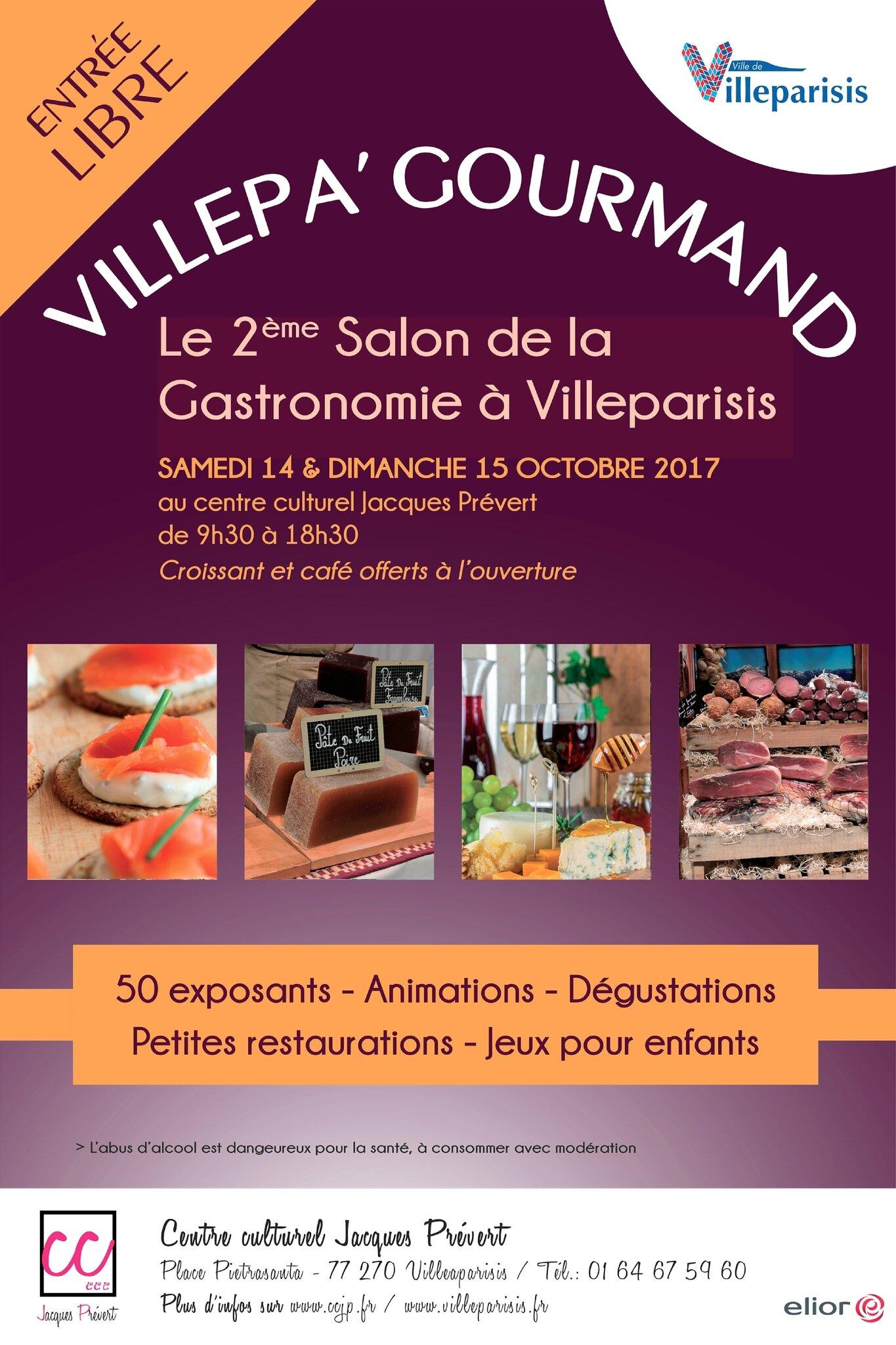 salon de la gastronomie villeparisis du 14 et 15 octobre