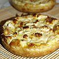 Tartelettes saumon et mozarella