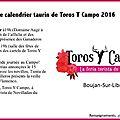 Sur votre agenda 2016 : les dates de toros y campo 2016