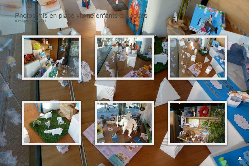Photos mis en place vitrine enfants dialogues2