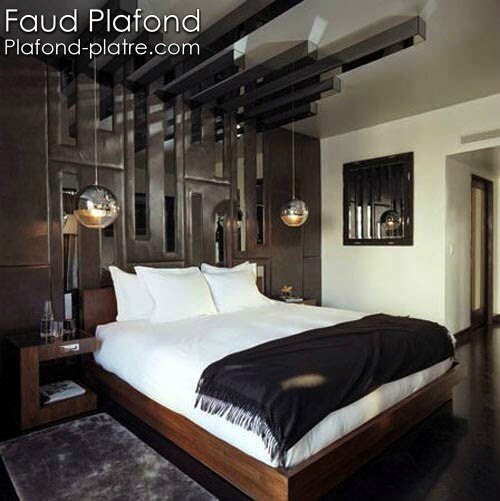 Design int rieur chambre coucher faux plafond design for W hotel bedroom designs