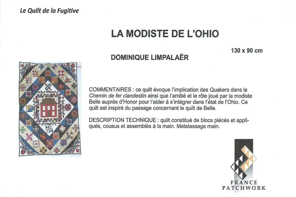 12-Dominique LIMPALAËR-LA MODISTE DE L'OHIO-Quilt La Fugitive12_