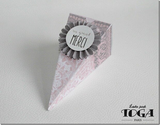 BOITE DRAGEES Color Factory Mariage DENTELLE ROSE GRISE 2