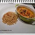 Blanquette de saumon et son blé