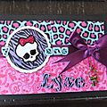 Carte invitation thème monster high