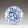 A kraak blue and white plate, ming dynasty, wanli period (1572-1620)