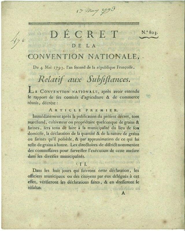 Décret 4 mai 1793