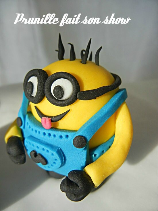 minion pâte à sucre prunille fee