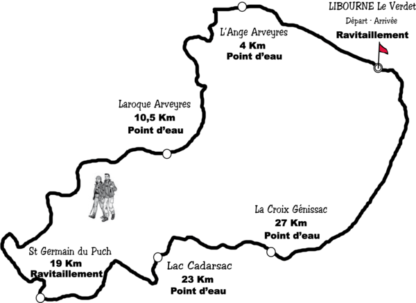 Parcours 33km500 2013