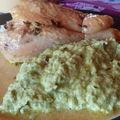 Poulet cocotte et purée de haricots