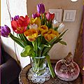 ♥ envie de printemps ; bouquet de tulipes multicolores - edit ♥