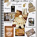 Se marier en blanc et or
