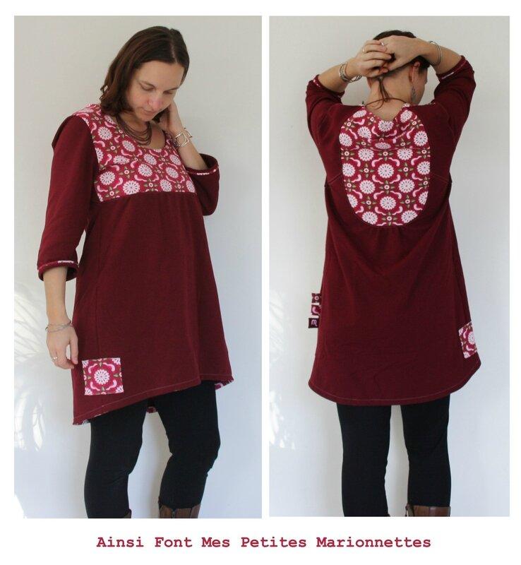 robe tunique rose colombe 7