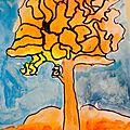 Arbres d'automne à la façon de Vincent Van Gogh
