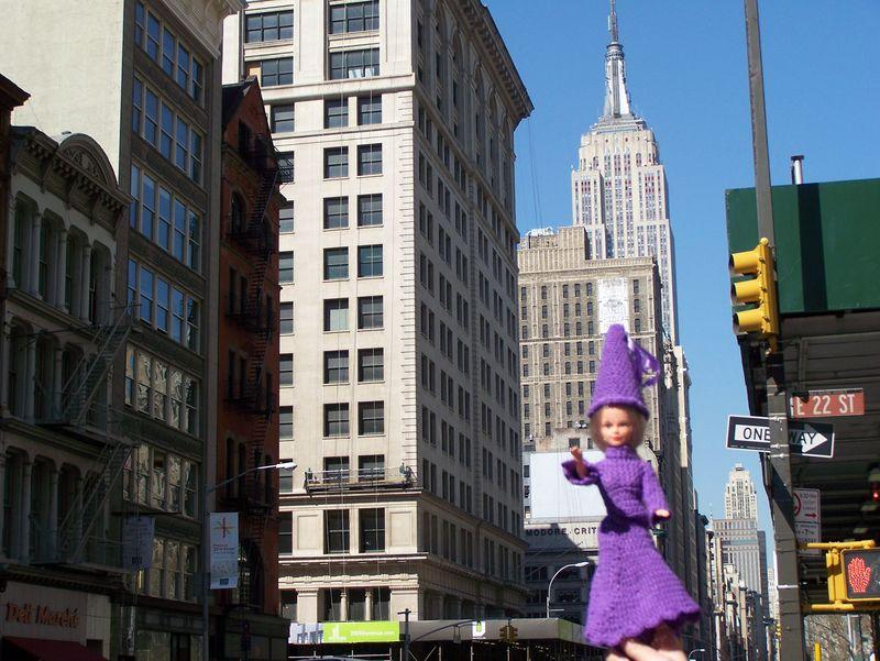La fée à New-York, sur Broadway (USA)