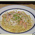 Spaghettis au saumon fume