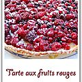 Tarte aux fruits rouges et lemon curd