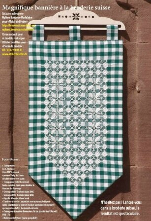 Broderie suisse tablier ou gingham apron broderie suisse for Tissus ameublement suisse