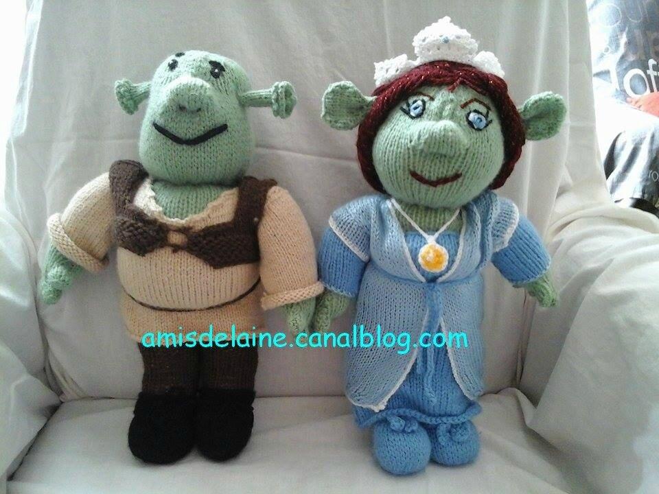 shrek et fiona au tricot amis de laine. Black Bedroom Furniture Sets. Home Design Ideas