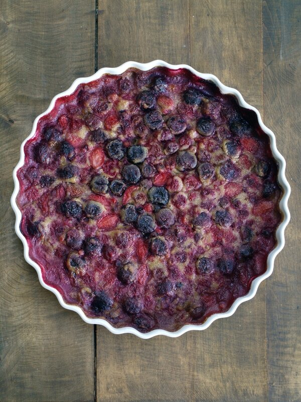 clafoutis amande fruits rouges