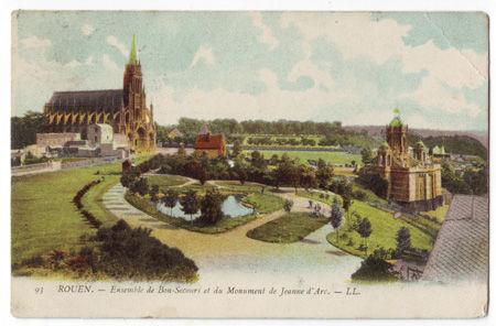 76 - ROUEN - Ensemble du Bon Secours et du Monument Jeanne d'Arc
