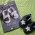 Petits chaussons de star en cuir