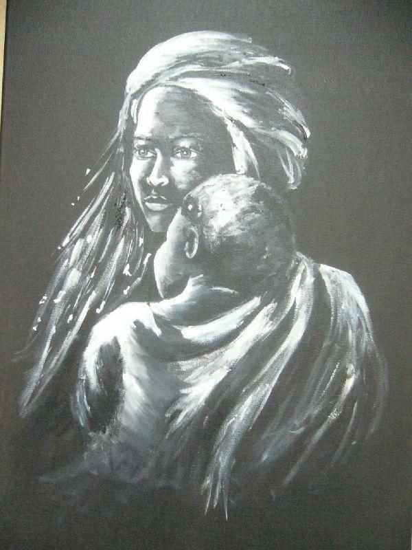 Stage acrylique les tableaux de luceb - Tableau ikea noir et blanc ...