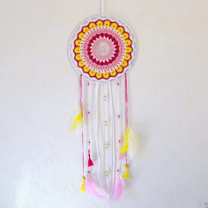 Attrape rêve-mandala -crochet-La chouette bricole (3)