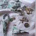 Petits cornets pour un calendrier de l'Avent (gravure en vert de