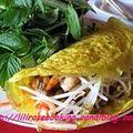 Crêpes vietnamiennes (banh xeo)